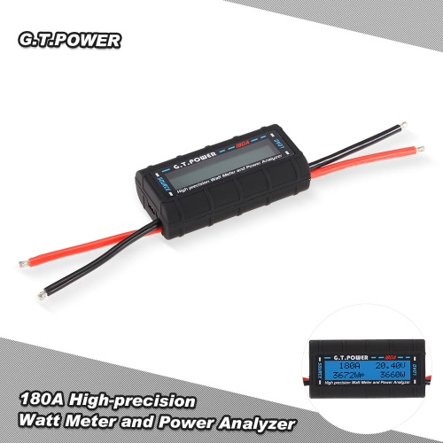 G.T.POWER 180A High-precision Watt Meter and Power Analyzer for RC Drone Aircraft Helicopter Car Boat от Tomtop.com INT