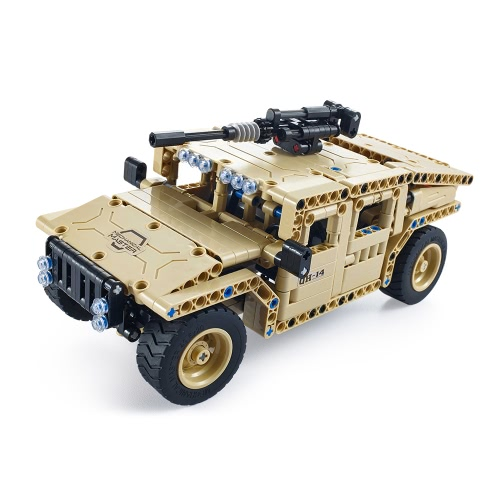 45Utoghter 69003 2.4G RC Armed Off-road Vehicle Building Blocks Kits Toy Bricks Car Model