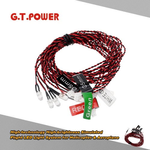 Buy G.T.POWER High-technology High-brightness Simulated Flight LED Light System Helicopter & Airplane