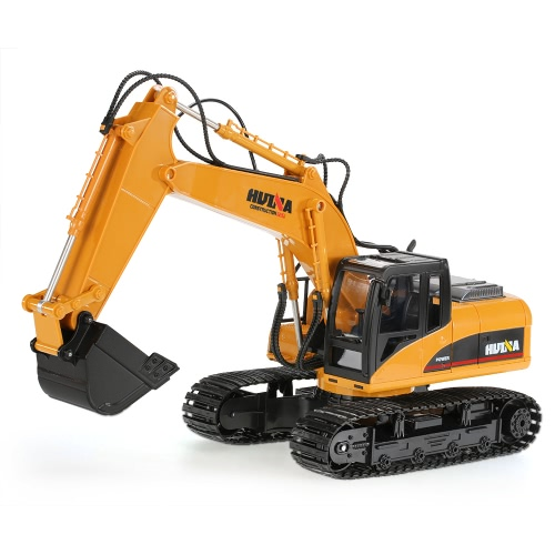 Buy Original HUINA TOYS 2.4GHz 15CH Engineering Electric Excavator Construction Truck RC Car Plastic Version