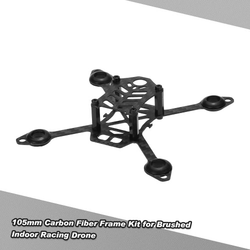 Buy 105mm Carbon Fiber Frame Kit DIY Micro FPV Racing Quadcopter Support 8520 Coreless Motor