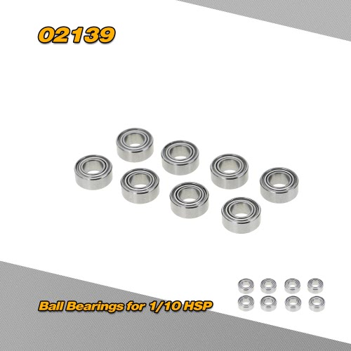 02139 10*5*4mm Ball Bearings for 1/10 HSP 4WD Buggy Car