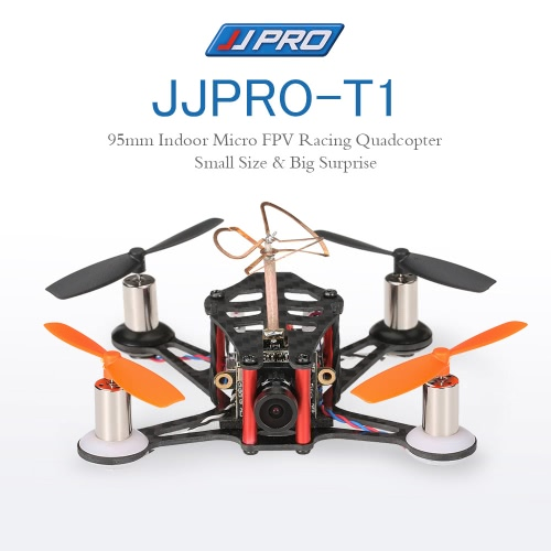 Buy JJRC JJPRO-T1 95mm Micro FPV Racing Quadcopter Drone Based F3 Brushed Flight Controller Frsky Receiver Compatible Taranis X9D BNF