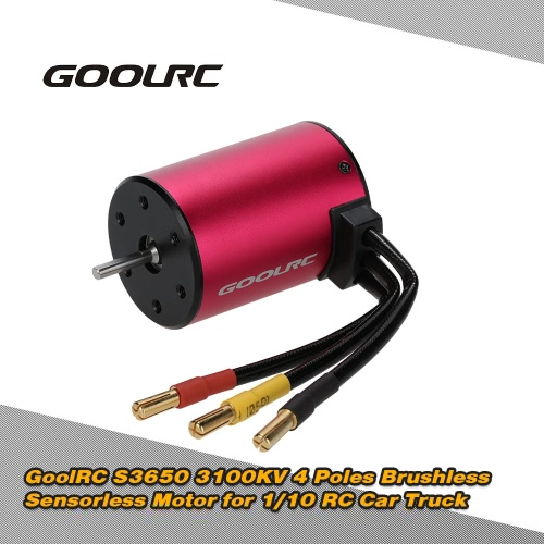 Buy Original GoolRC S3650 3100KV 4 Poles Brushless Sensorless Motor 1/10 RC Car Truck