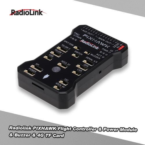 Buy Original RadioLink Pixhawk PX4 Autopilot 32 Bit ARM Flight Controller DJI F330 F450 F550 Multirotor RC Quadcopter FPV Drone 4G Memory Card Safety Switch Buzzer