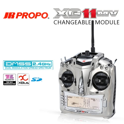 Original JR PROPO XG11MV 2.4GHz 11 Channel DMSS Transmitter Mode 2 & RG812BX 8CH Receiver X.BUS System for RC Quadcopter Multicopter Helicopter Glider от Tomtop.com INT