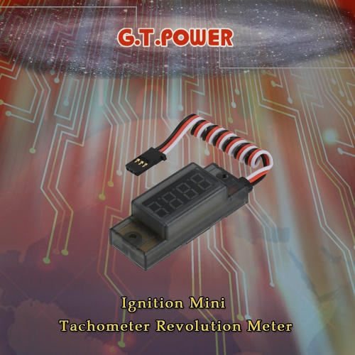 G.T.POWER Ignition Mini Tachometer Revolution Meter for RC CDI Petrol Gas Engine от Tomtop.com INT