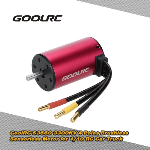 Buy Original GoolRC S3660 3300KV 4 Poles Brushless Sensorless Motor 1/10 RC Car Truck