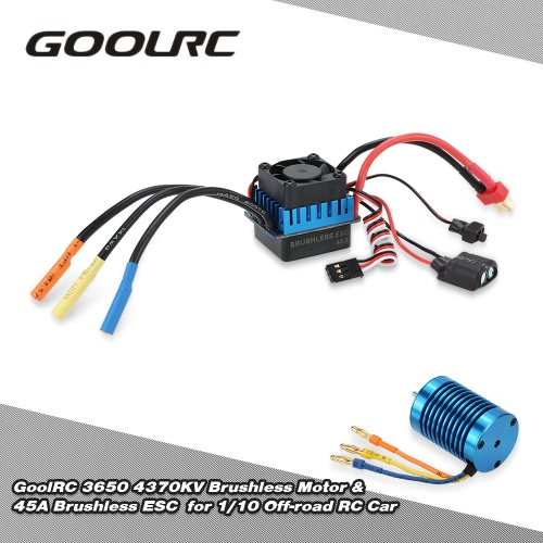 Buy Original GoolRC 3650 4370KV 4P Sensorless Brushless Motor & 45A ESC 1/10 Off-road RC Car
