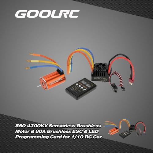 Buy GoolRC 550 4300KV Sensorless Brushless Motor & 80A ESC LED Programming Card Combo Set 1/10 RC Car