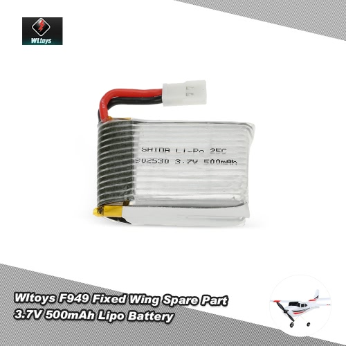 Original Wltoys RC Aircraft Spare Part F949 3.7V 500mAh Battery for Wltoys F949 Fixed Wing RC Aircraft от Tomtop.com INT
