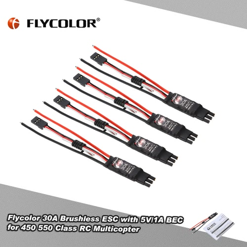 Original Flycolor Fairy Series 30A Brushless ESC Electronic Speed Controller with 5V/1A BEC for F450 F550 Quadcopter от Tomtop.com INT
