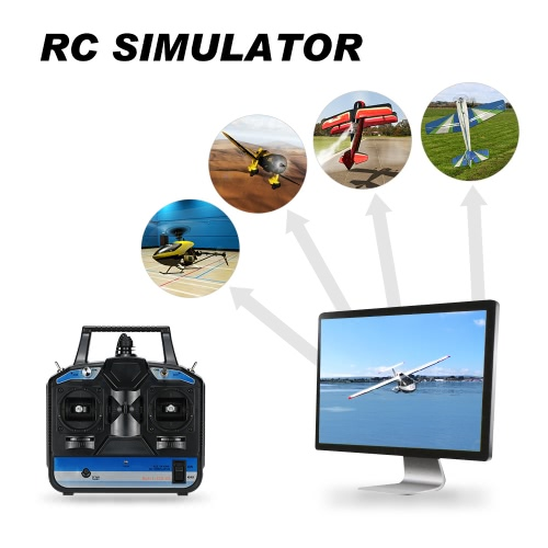 Buy 8 Channels RC Helicopter Airplane Flight Simulator Transmitter Beginner