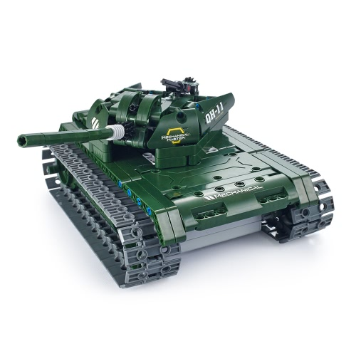 45Utoghter 69001 2.4G RC Battle Tank Building Blocks Kits Toy Bricks Car Model DIY Toys