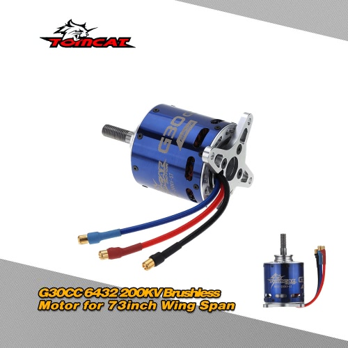 Buy Tomcat G30CC 6432 200KV 5T Outrunner Brushless Motor 73inch Wing Span RC Fixed-wing