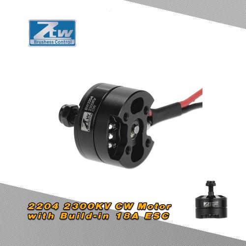 Buy Original ZTW Black Widow 2204 2300KV Brushless CW Motor Built-in 18A ESC 2 1 Series QAV250 Racing Drone