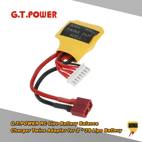 G.T.POWER RC Lipo Battery Balance Charger Twins Adapter for 2 * 3S Lipo Battery
