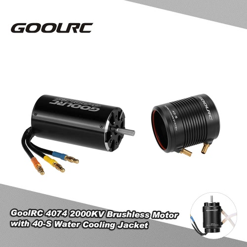 Buy Original GoolRC 4074 2000KV Brushless Motor 40-S Water Cooling Jacket Combo Set 1000mm (or Above) RC Boat