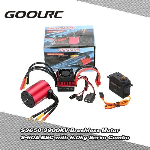 Buy GoolRC S3650 3900KV Brushless Motor S-60A ESC 6.0kg Metal Gear Servo Upgrade Combo Set 1/10 RC Car Truck