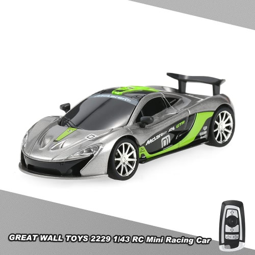 Buy GREAT WALL TOYS 2229 2.4G 2CH 1/43 Remote Control Mini Racing Car Simulate Voice Vehicle Toy Kids