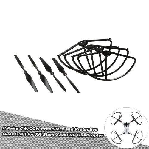 Buy 2 Pairs CW/CCW Propellers Protective Guards Kit XK Stunt X350 RC Quadcopter