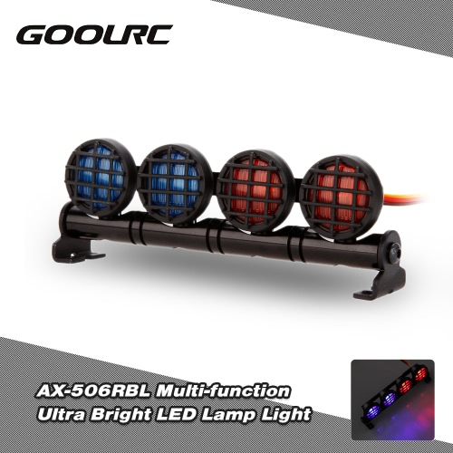 Buy Original GoolRC AX-506RBL Multi-function Ultra Bright LED Lamp 1/8 1/10 HSP Traxxas TAMIYA CC01 4WD Axial SCX10 Monster Truck Short Course RC Car