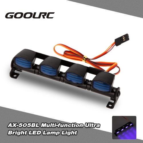 Buy Original GoolRC AX-505BL Multi-function Ultra Bright LED Lamp Light 1/8 1/10 HSP Traxxas TAMIYA CC01 4WD Axial SCX10 Monster Truck Short Course RC Car