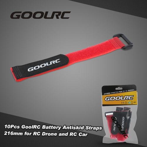 10pcs Goolrc Strong Rc Battery Antiskid Straps Battery Bands 216mm For Rc Drone Helicopter And Rc Car