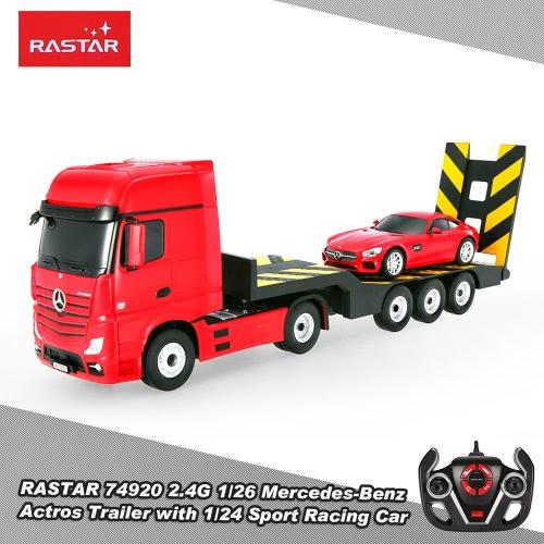 RASTAR 74920 2.4G 1/26 Mercedes-Benz Actros Trailer Truck 1/24 Sport Racing RC Car Tractor