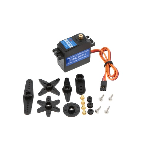 Buy HDKJ D3015 Metal Gear High Torque Wide-angle Digital Waterproof Robot Servo Set DIY Part