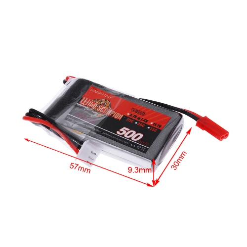 Wild Scorpion 7.4V 500mAh 25C MAX 35C 2S JST Plug Li-po Battery for RC Car Airplane Blade CX Helicopter Part от Tomtop.com INT