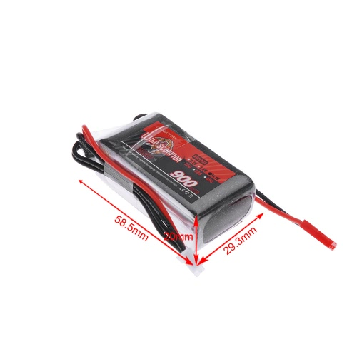 Wild Scorpion 11.1V 900mAh 25C MAX 35C 3S JST Plug Li-po Battery for RC Car Airplane Blade CP Helicopter Part от Tomtop.com INT