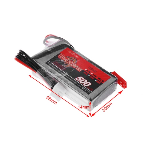 Wild Scorpion 11.1V 500mAh 25C MAX 35C 3S JST Plug Li-po Battery for RC Car Airplane Blade CX Helicopter Part от Tomtop.com INT