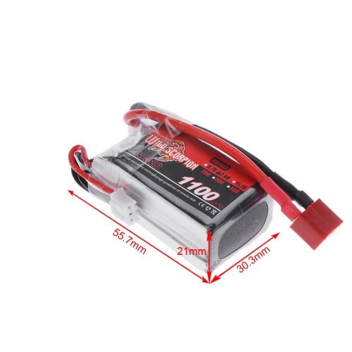 Wild Scorpion 7.4V 1100mAh 25C MAX 35C 2S T Plug Li-po Battery for RC Car Airplane Blade CX Helicopter Part от Tomtop.com INT