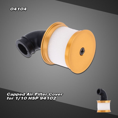 04104 Upgrade Parts Alum Capped Air Filter Cover for 1/10 Nitro Power 4WD 94102 On-road Touring 94106 Off-road Buggy 94108 Monster Buggy от Tomtop.com INT