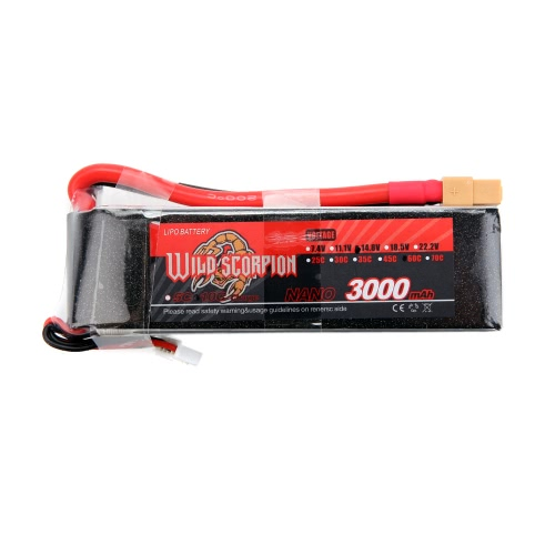 Wild Scorpion 14.8V 3000mAh 60C MAX 70C 4S XT60 Plug Li-po Battery for RC Car Airplane Helicopter Part от Tomtop.com INT