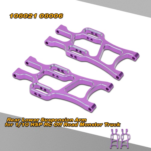 108021 1/10 Upgrade Parts Aluminum Rear Lower Suspension Arm for HSP RC Off Road Monster Truck Car от Tomtop.com INT