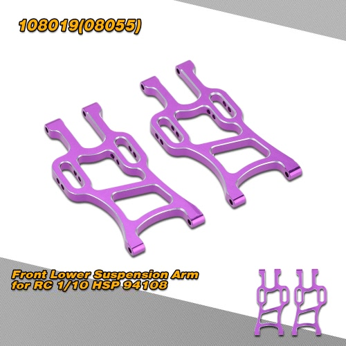 108019(08055) Upgrade Part Aluminum Front Lower Suspension Arm for RC 1/10 HSP 94108 Off Road Monster Truck Model Car от Tomtop.com INT