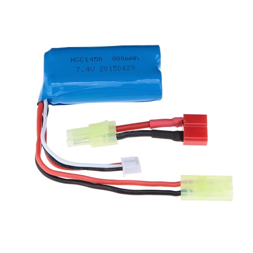 Buy Yikong 18094-TC HCC1450 7.4V 800mAh Rechargeable LiPo Battery Mini Tamiya Cable 1/18 RC Car