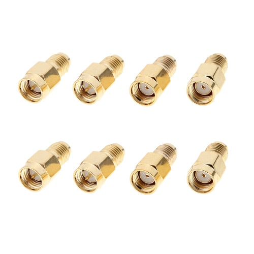 GoolRC 8 Pcs 5.8G SMA-J SMA-K RP-SMA-J RP-SMA-K Antenna Connector for RC Aircraft FPV от Tomtop.com INT
