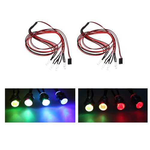 GoolRC 2 Set Upgrade Parts 5mm Colorful Flashing LED Light Set for HSP RC Cars от Tomtop.com INT