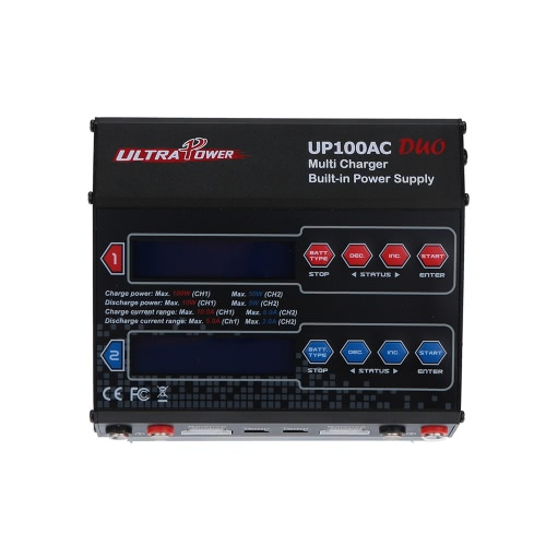 Ultra Power UP100AC DUO 100W LiIo/LiPo/LiFe/NiMH/NiCD Battery Multi Balance Charger/Discharger от Tomtop.com INT