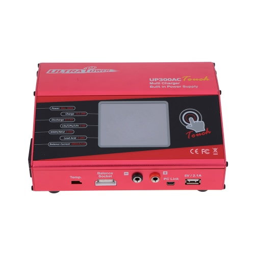 Ultra Power UP300AC Touch 300W LiIo/LiPo/LiFe/NiMH/NiCD Battery Touch Screen Charger/Discharger от Tomtop.com INT