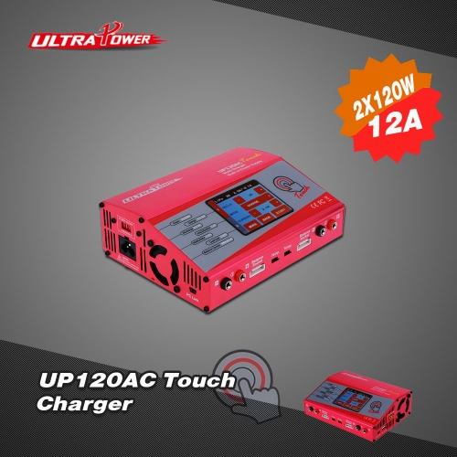 Ultra Power UP120AC Touch 2*120W LiIo/LiPo/LiFe/NiMH/NiCD Battery Touch Screen Charger/Discharger от Tomtop.com INT