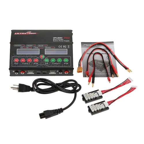 Ultra Power UP120AC DUO 120W/120W LiIo/LiPo/LiFe/NiMH/NiCD Battery Multi Balance Charger/Discharger от Tomtop.com INT