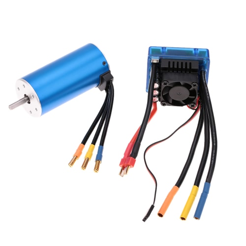 Buy 3674 2250KV 4P Sensorless Brushless Motor 120A ESCuff08Electric Speed Controlleruff09for 1/8 RC Car Truck