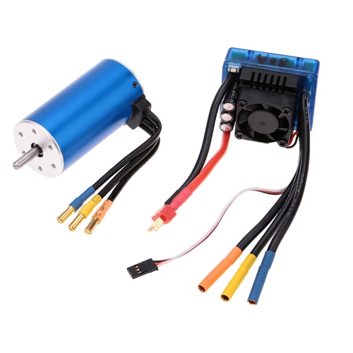Buy 3670 2150KV 4P Sensorless Brushless Motor 80A ESCuff08Electric Speed Controlleruff09for 1/8 1/10 RC Auto Car Truck