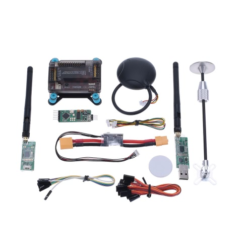 APM 2.8 V2.8 ArduPilot UAV Flight Controller & Neo-6M & GPS Antenna Foldable Stand Amount & Power Module & 915Mhz Radio Telemetry Transmision от Tomtop.com INT
