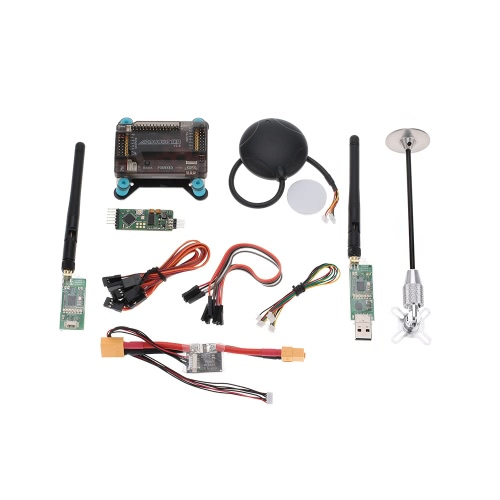 APM 2.8 V2.8 ArduPilot UAV Flight Controller & Neo-6M & GPS Antenna Foldable Stand Amount & Power Module & 433Mhz Radio Telemetry Transmision от Tomtop.com INT