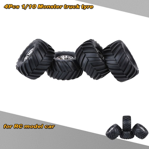 Buy 4Pcs/Set 1/10 Monster Truck Tire Tyres Traxxas HSP Tamiya HPI Kyosho RC Model Car